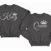 """Парные свитшоты для влюбленных """"King"""" (Король) и  """"Queen"""" (Королева)"""