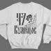 Именной свитшот со старорусским шрифтом и народными узорами #76
