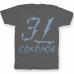 Именная футболка с бунтарским шрифтом и скейтбордом #62