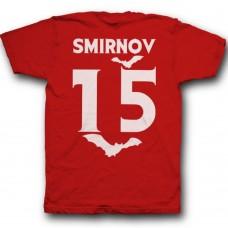 Именная футболка с вампирским шрифтом и летучими мышами #7