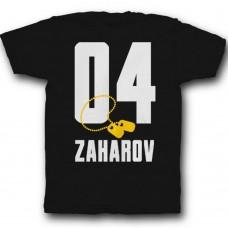 Именная футболка с армейским шрифтом и армейским медальоном #27