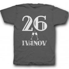 Именная футболка с винтажным шрифтом #2