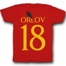 Именная футболка с готическим шрифтом и вороном  #20