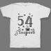 Именная футболка с интеллигентным шрифтом и чашкой с кофе #69