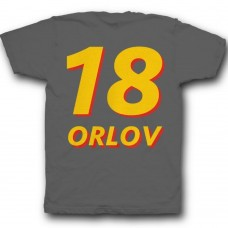 Именная футболка с объемным шрифтом #18