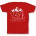 Именная футболка с необычным шрифтом и силуэтами гор #75