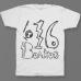 Именная футболка с школьным шрифтом #54