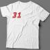 Именная футболка со спортивным шрифтом и спидометром #61