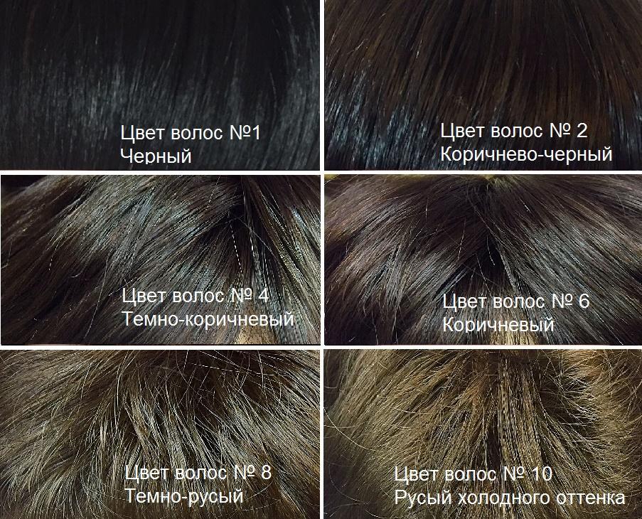 Натуральный цвет коричневый волос